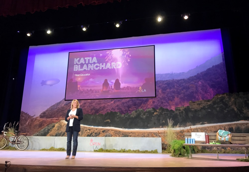 Airbnb Open 2016 Los Angeles, Katia Blanchard on stage