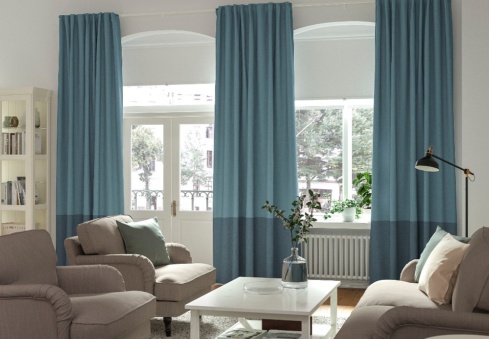 Blackout curtains, from Ikea - BnbStaging the blog