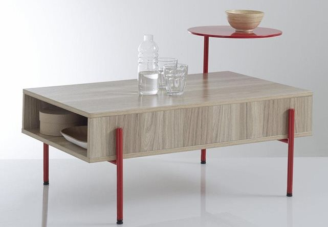 Coffee table with a pivoting tray