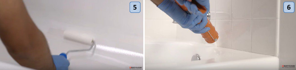 Steps for painting the bathtub