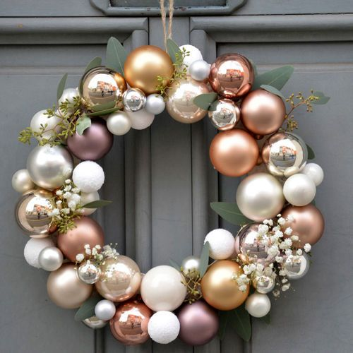 Homemade christmas wreath