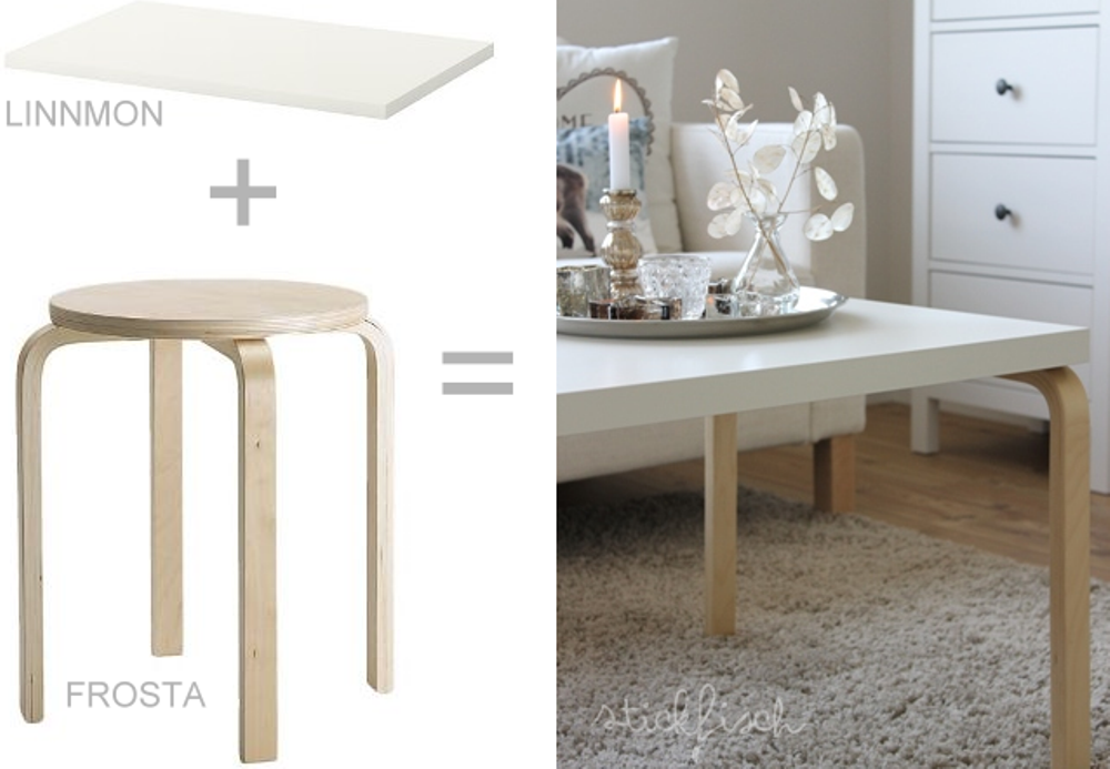 Diy coffee table, Bidouilles Ikea