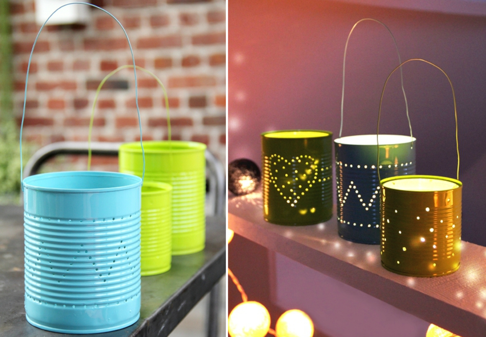 DIY lanterns for outdoor space