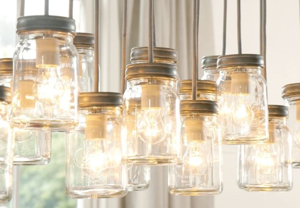 Exeter 16 jar chandelier, Pottery Barn