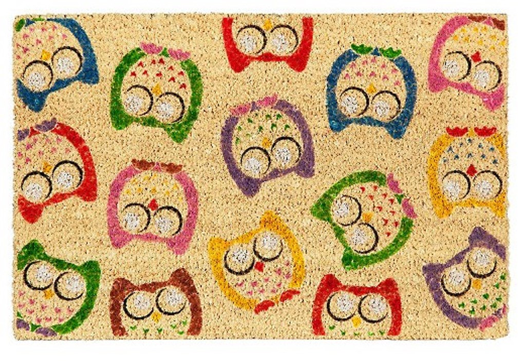 Customized doormat, with owls