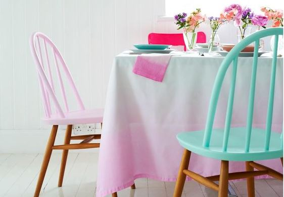 Painted chairs, Charlotte love
