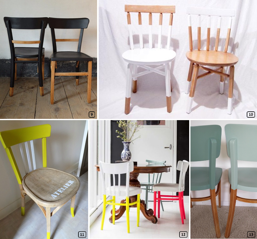 Makeover with paint for Baumann style chairs