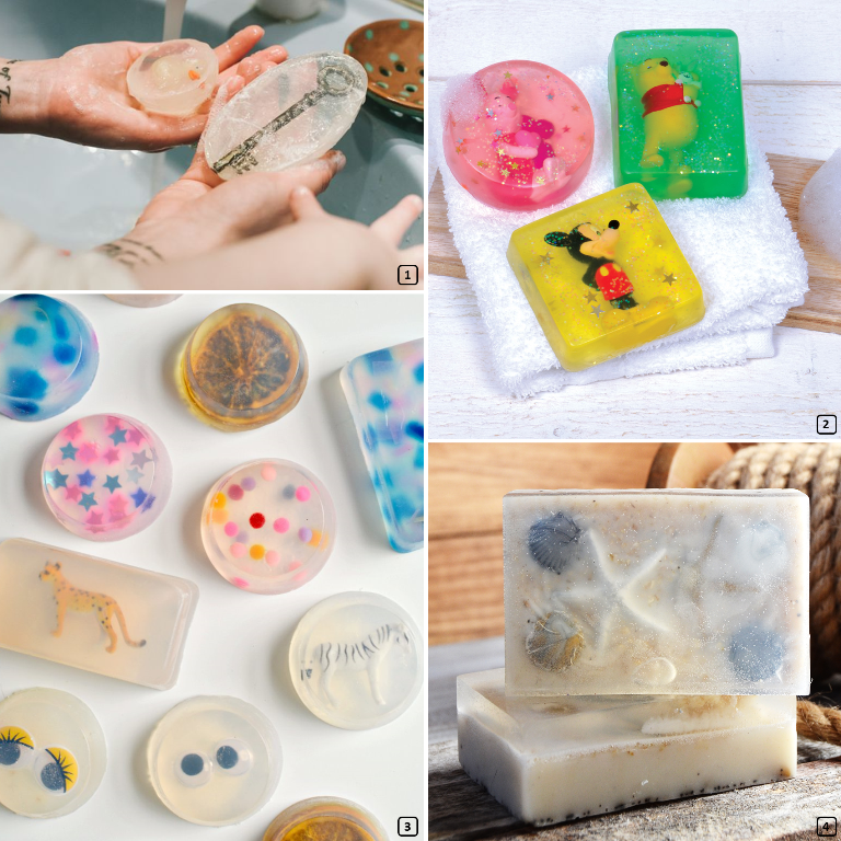 Home-made soaps with a surprise inside