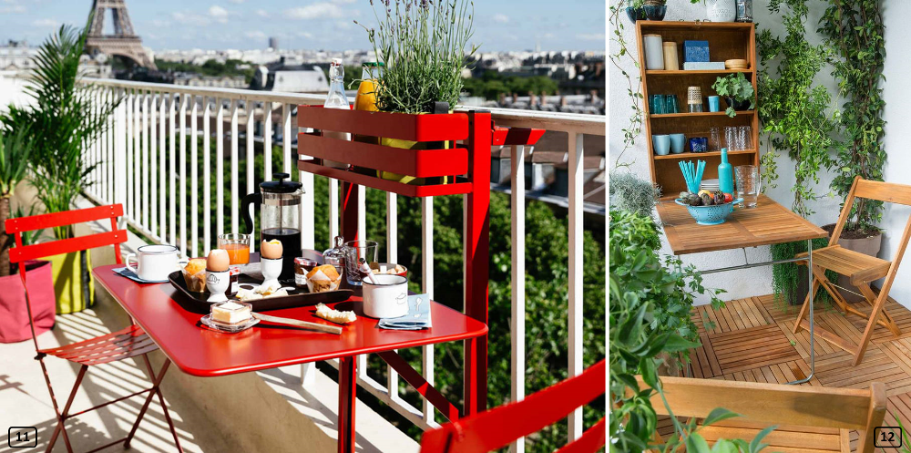Multifunction furniture on small balconies