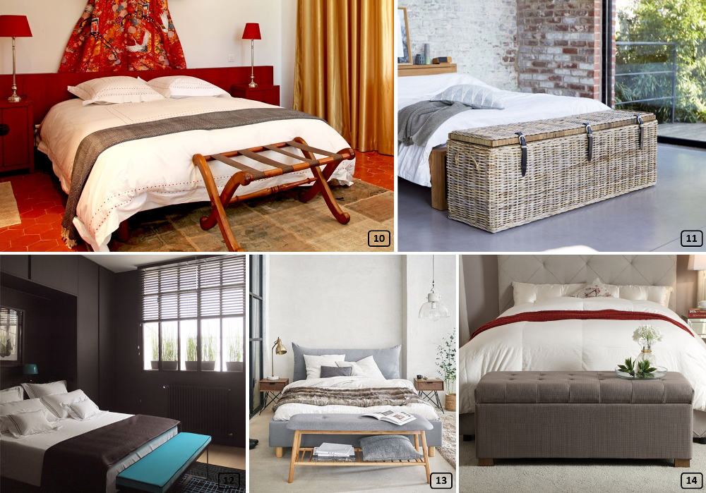 Different styles of bed ends