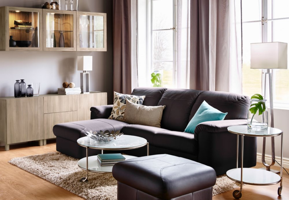 Small living room with pastel colour