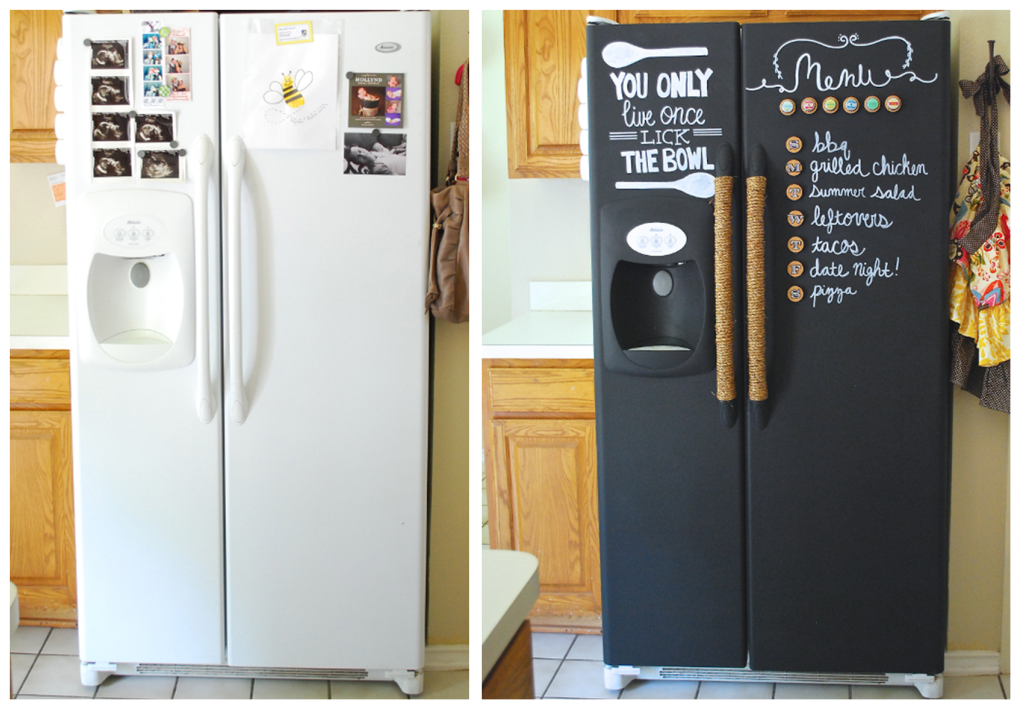 how can you customize a fridge bnbstaging le blog. Black Bedroom Furniture Sets. Home Design Ideas