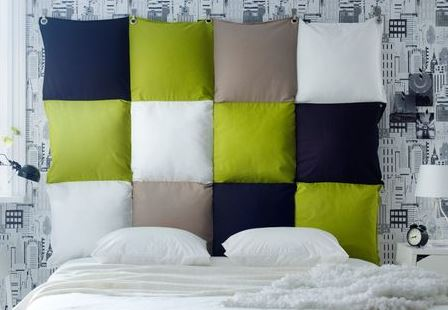 21 original diy headboards for rentals bnbstaging le blog - Tete de lit avec chevet suspendu ...