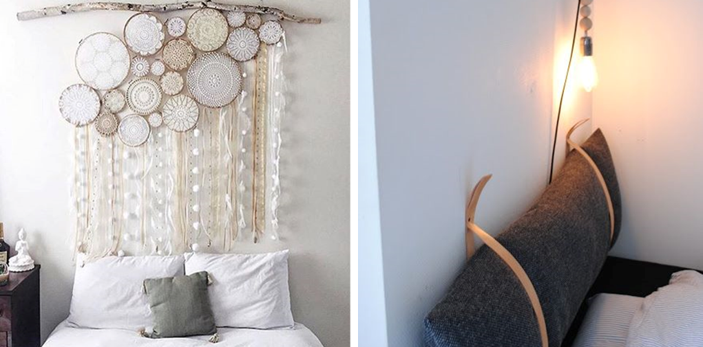 21 original diy headboards for rentals bnbstaging le blog - Coussins tete de lit ikea ...