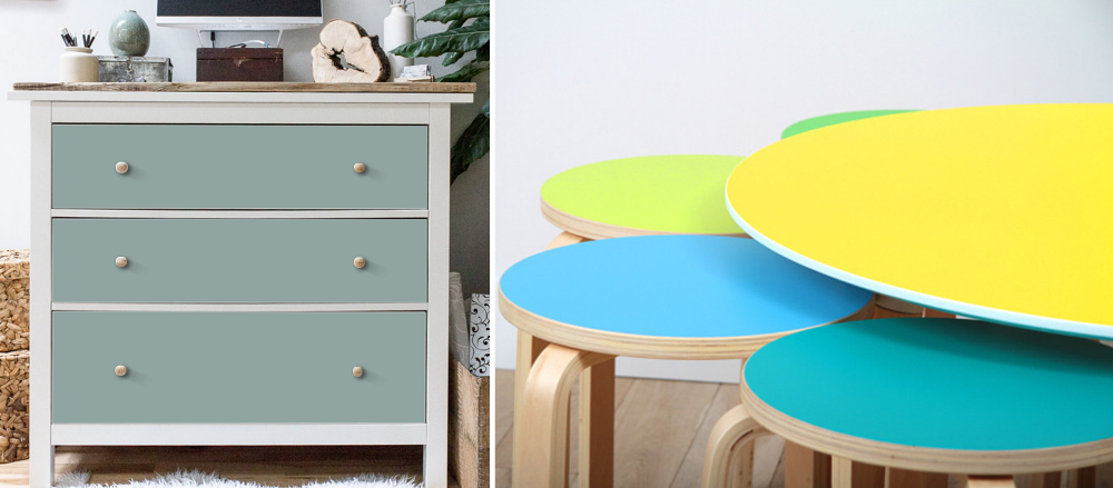 Likeacolor offers stickers to customize Ikea furniture