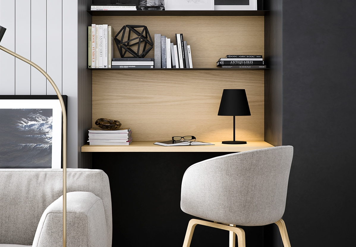 20 ingenious office nooks for small spaces bnbstaging le - Small office space rental collection ...