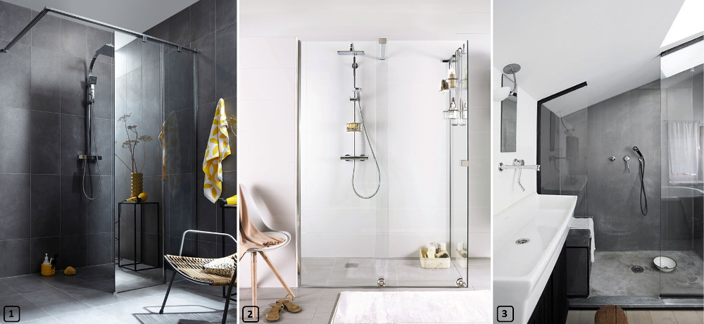 Walk-in showers in all kind of bathrooms