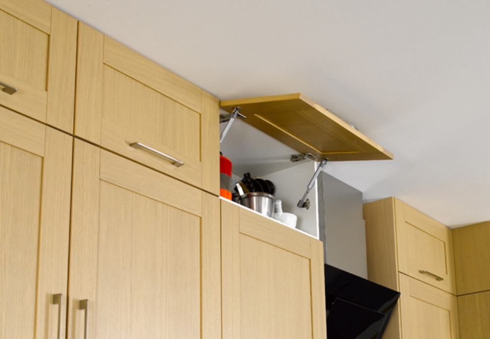 Storage space in the kitchen close to the ceiling
