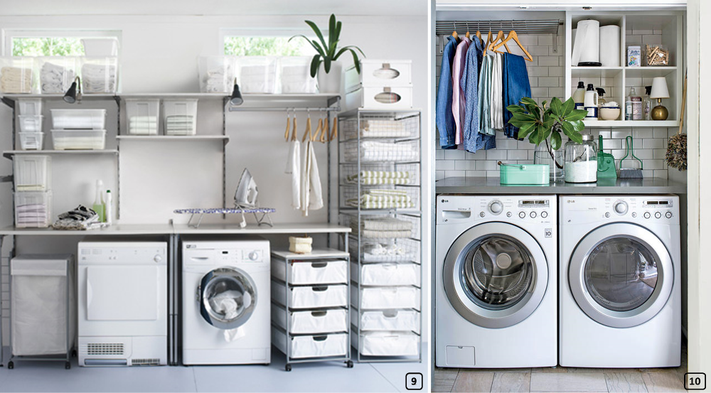 Well organized laundry rooms
