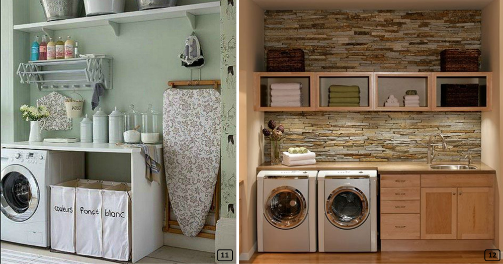 Laundry rooms well organized