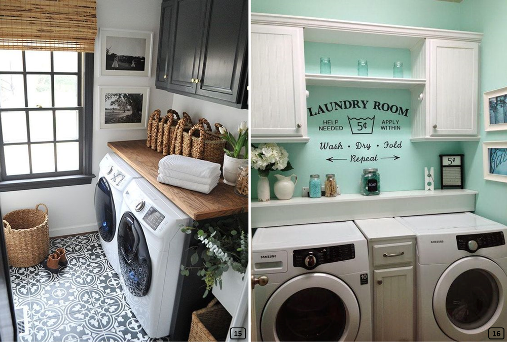 Well decorated laundry rooms