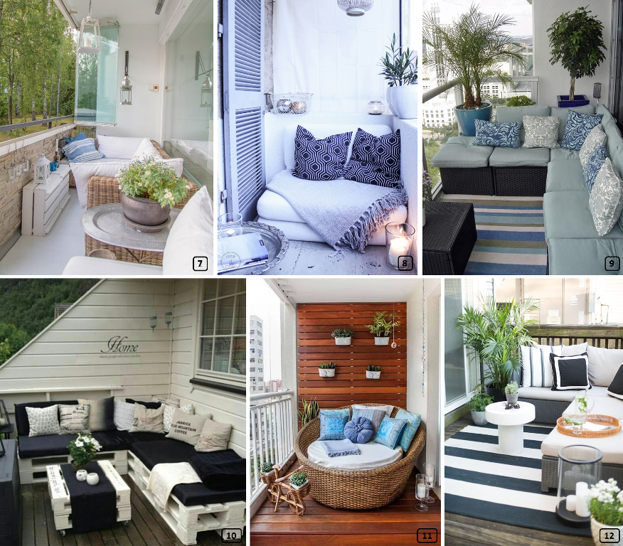6 balconies with a lounge style