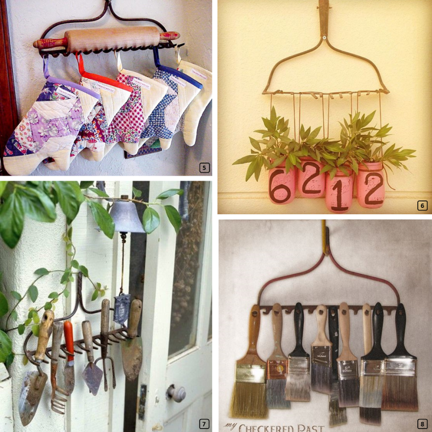 Recycling rakes in interiors