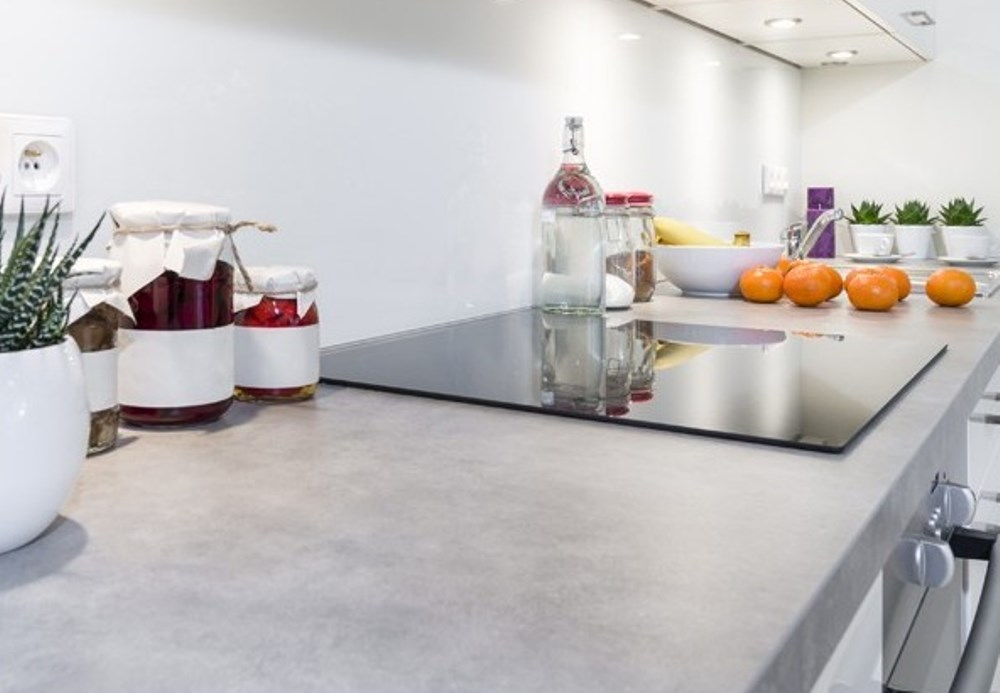 Polished concrete counter tops, Betons decoratifs