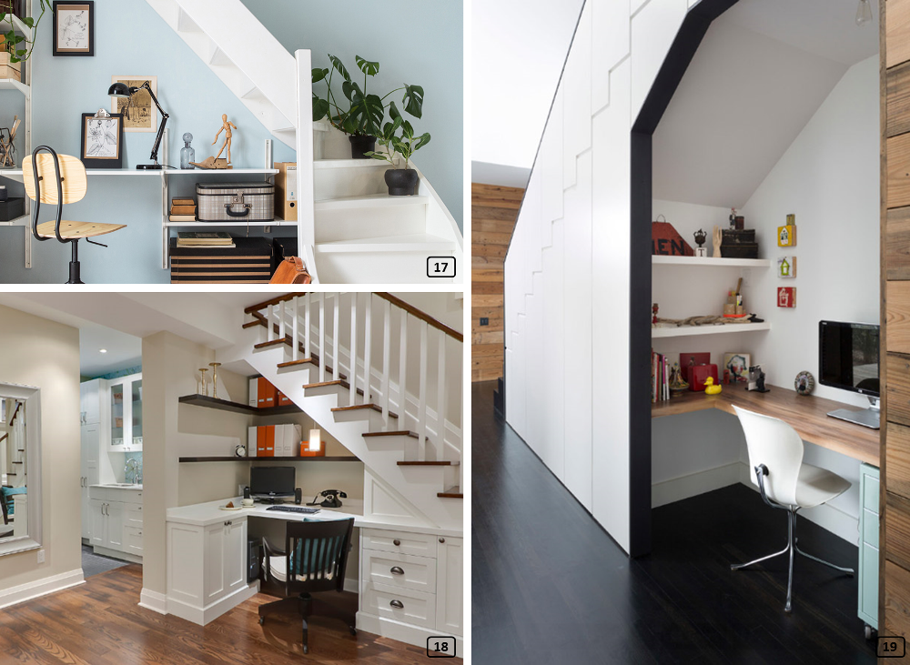 24 Ideas For Optimizing The Space Under Staircase