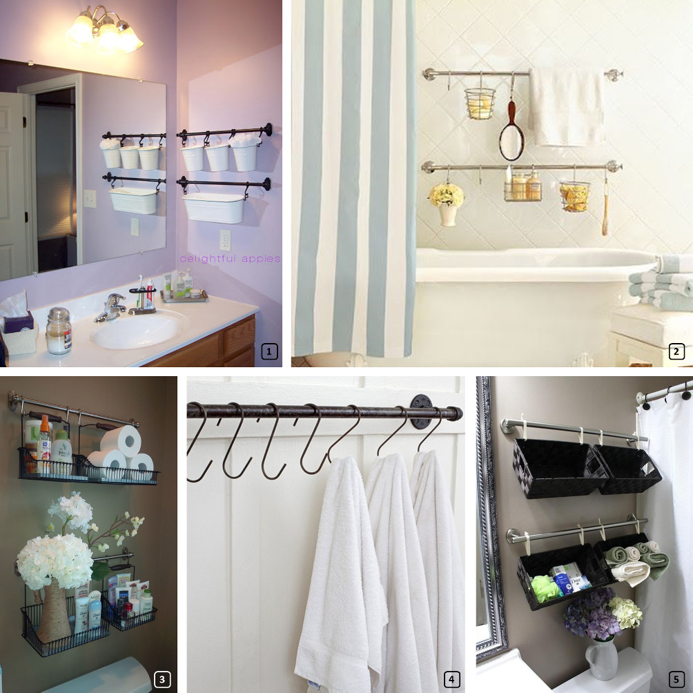 Towel rails in the bathroom for ingenious storage
