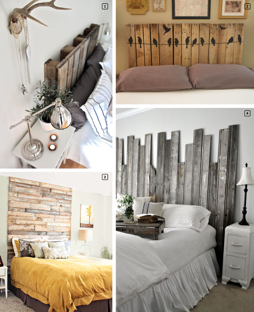 Wooden upcycled headboards for rentals