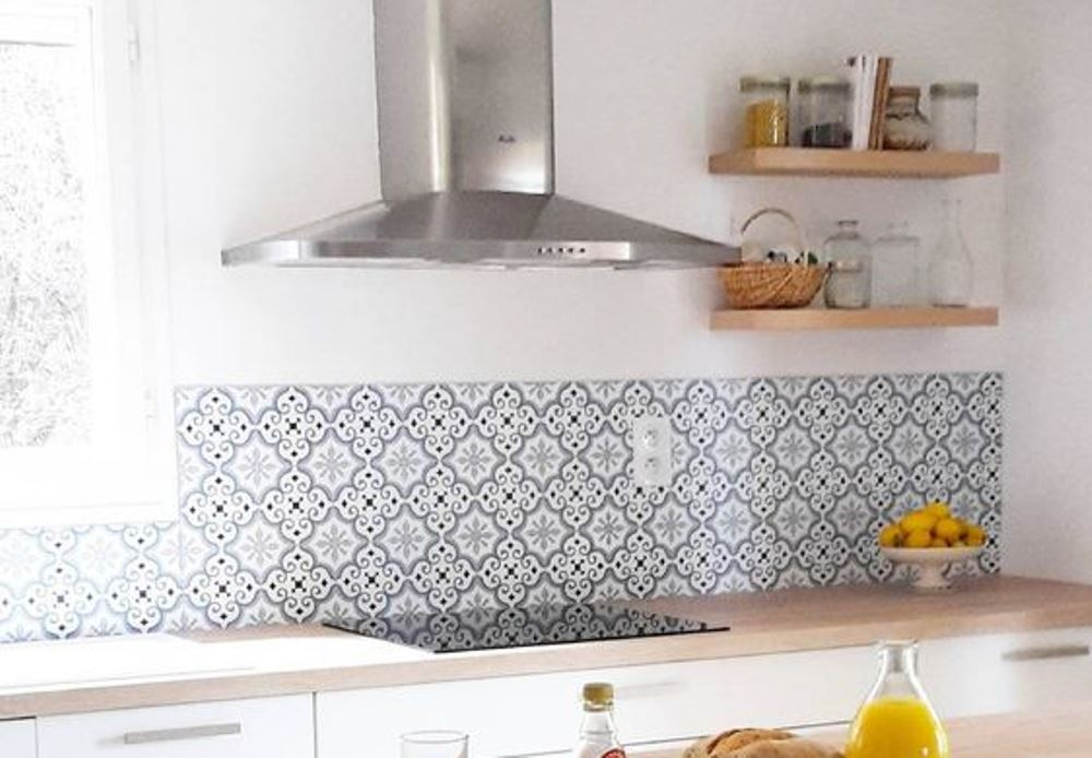 Cement tiles in a scandinavian style kitchen, Audella
