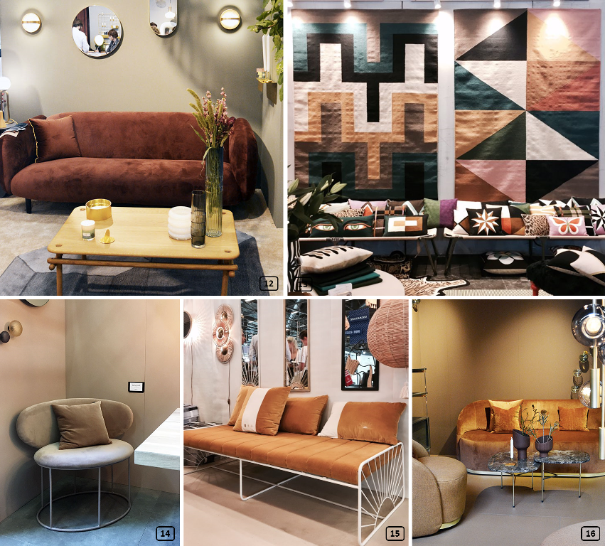 Brown colours at Maison & objet show