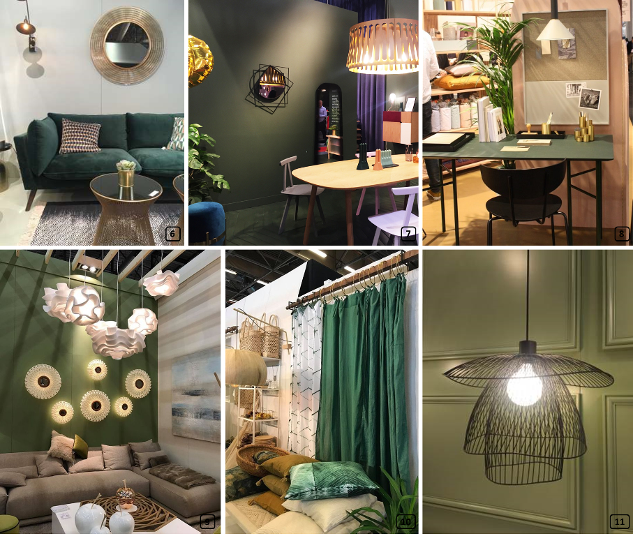 Green colours in homes at maison & objet show