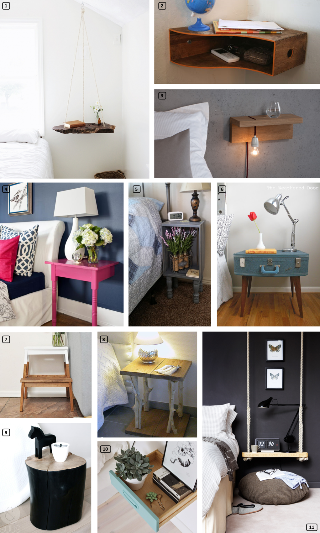23 Creative Bedside Tables For Your Rental Bnbstaging Le Blog