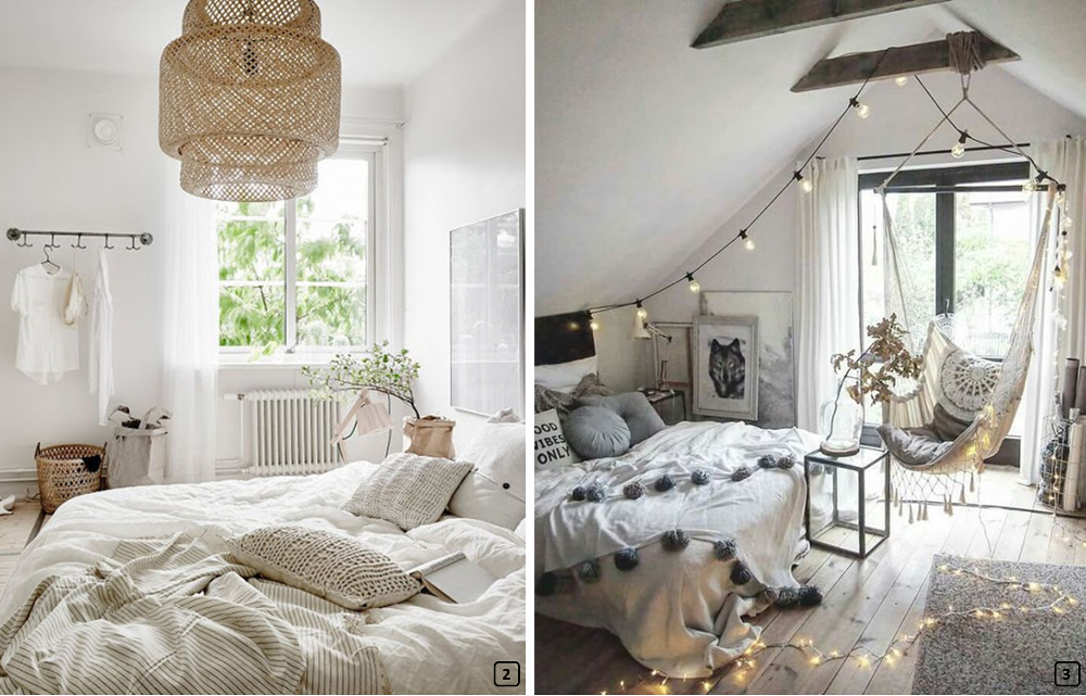 Chambre Deco Chic : Bohemian chic decoration a romantic room bnbstaging le