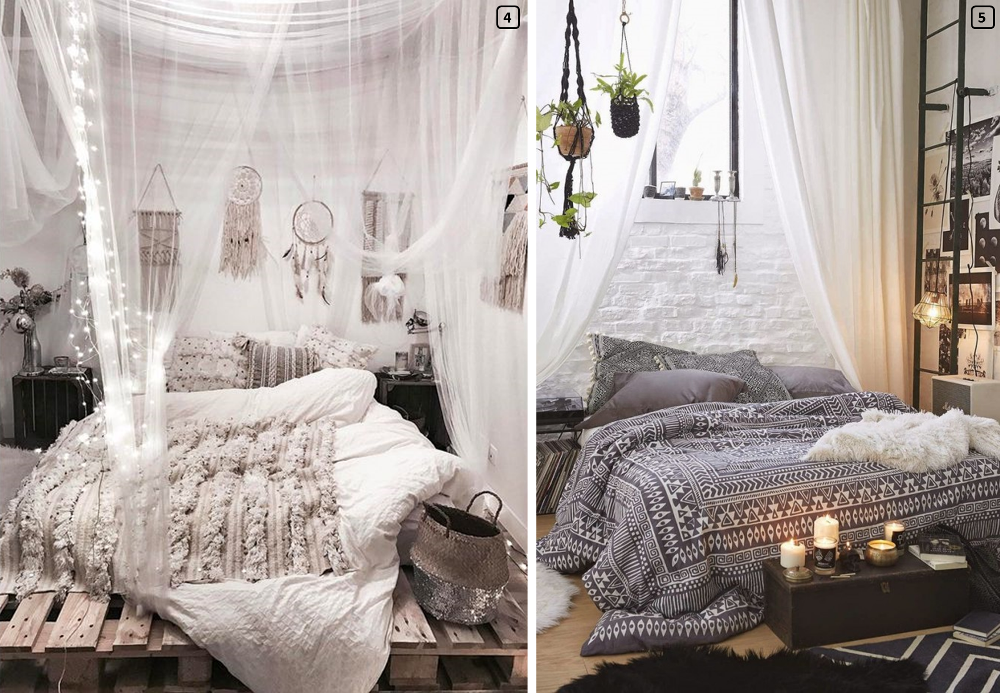 bohemian chic decoration a romantic room bnbstaging le blog. Black Bedroom Furniture Sets. Home Design Ideas