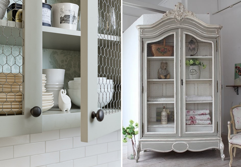 Chicken wire in home décor - BnbStaging le blog
