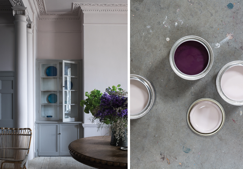 Peignoir painting from Farrow and Ball