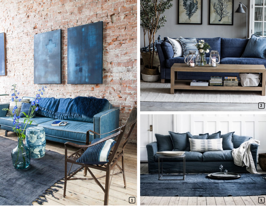 Delightful Three Sofas Made With Jeans ...