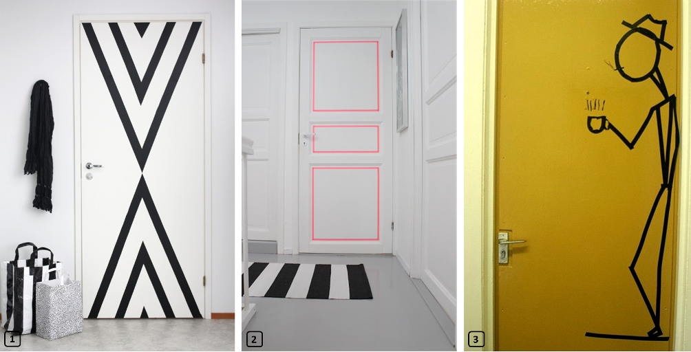 Customized doors with washi tape