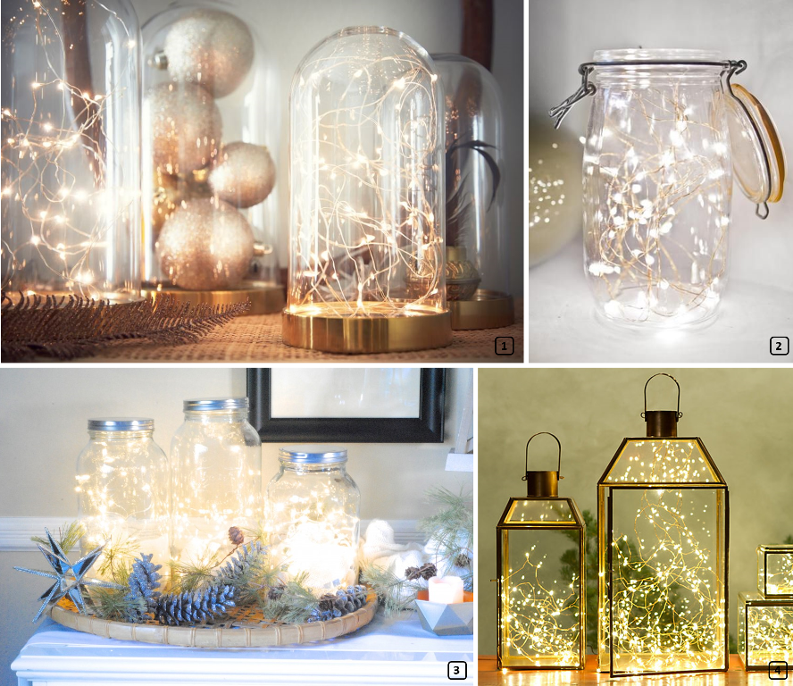 DIY projects with garland lights