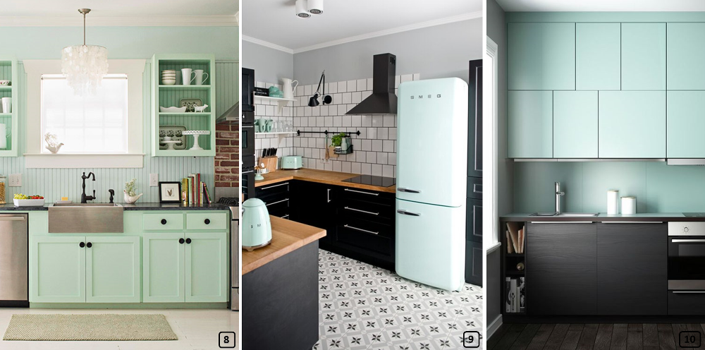 Mint color for a vintage style