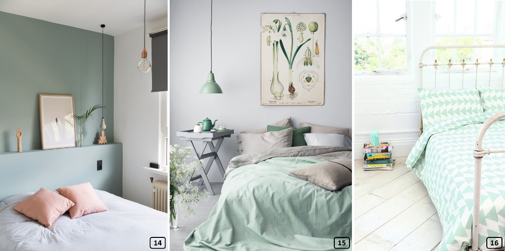 Mint colour in bedrooms