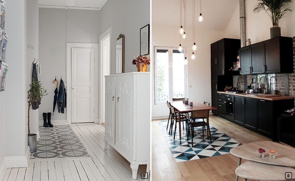 Decor Trend Tile And Wood Flooring Combination