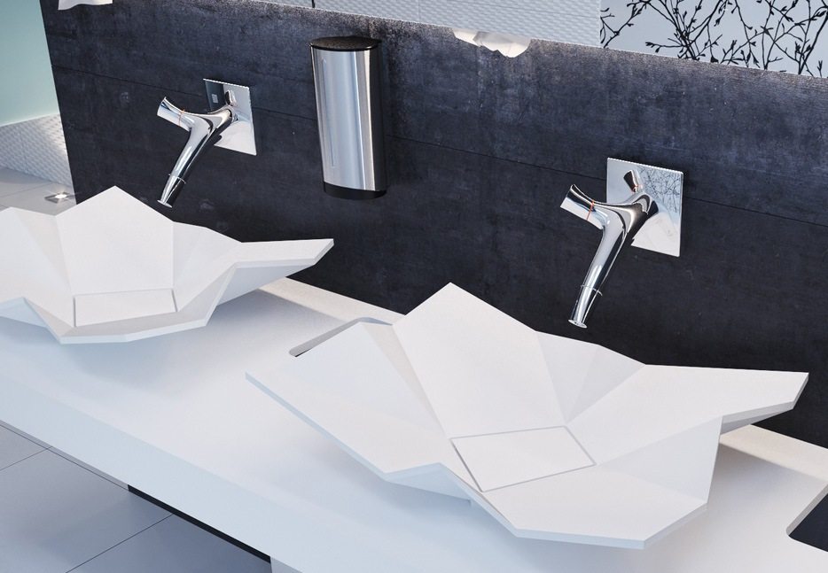 Origami sink
