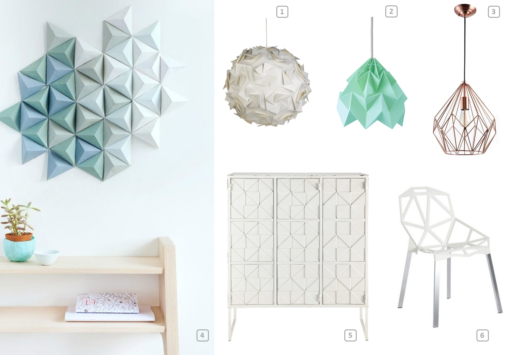 Origami spring 2016 s d cor trend bnbstaging le blog for Decoration origami