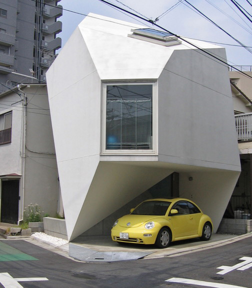 House in Tokyo in shape of origami