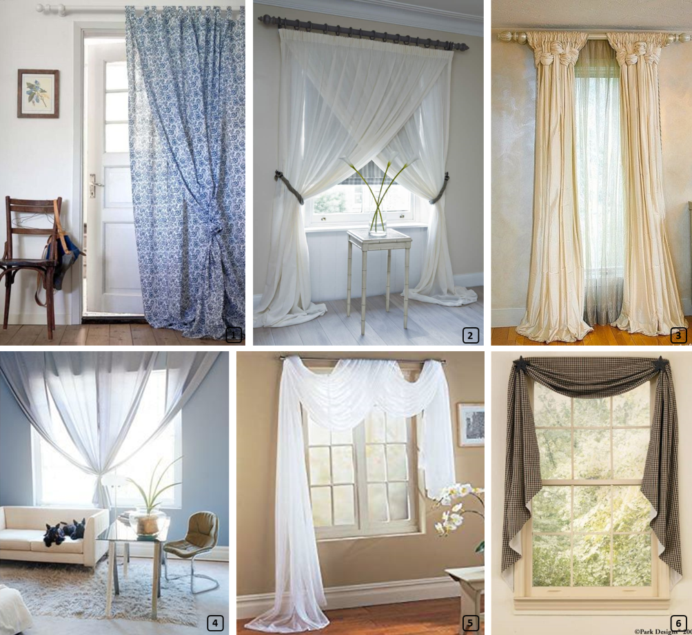 Creative curtain knots to personalize homes