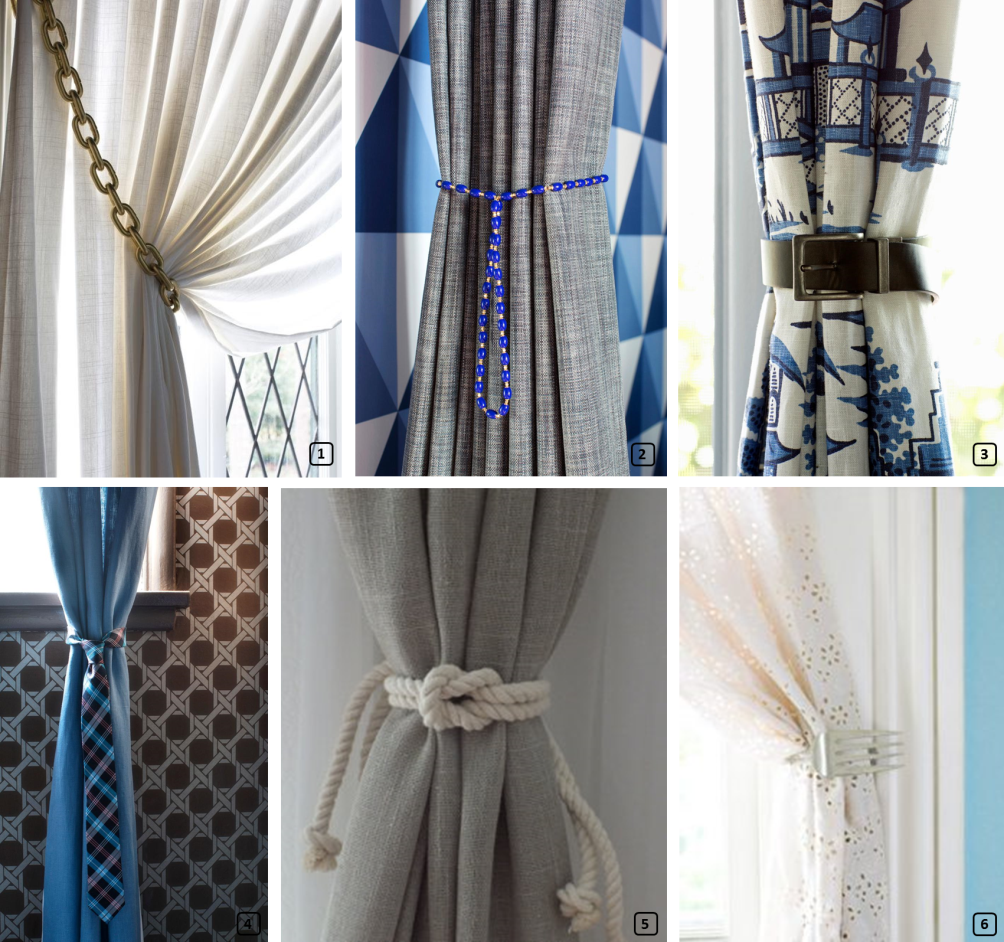 6 creative tie backs for curtains